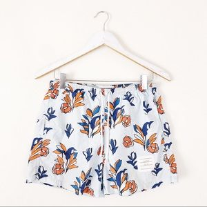 Thom Browne Floral Print Washed Shell Swim Shorts